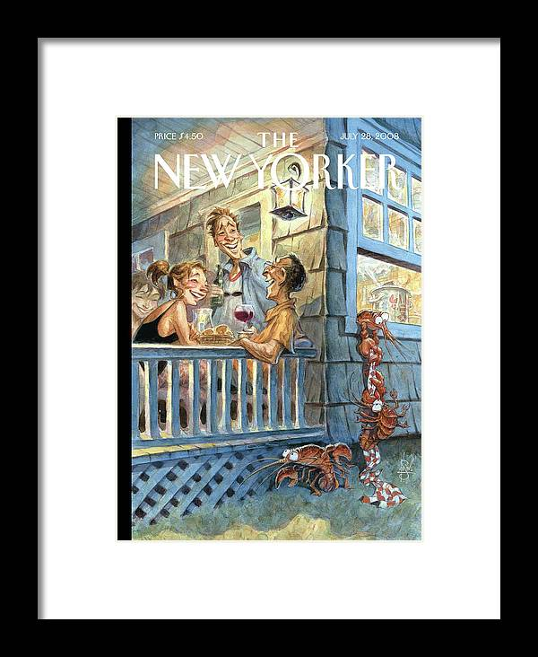By Peter De Seve Framed Print featuring the painting New Yorker July 28th, 2008 by Peter de Seve