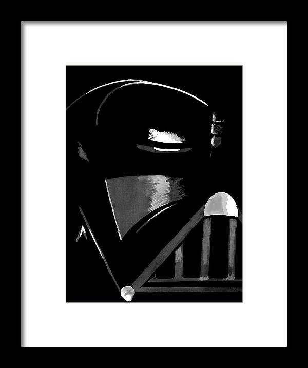 Star Wars Framed Print featuring the painting Vader by Dale Loos Jr