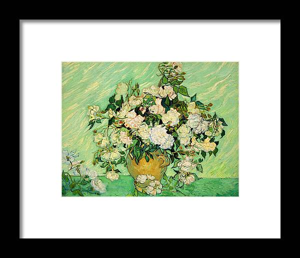 Roses Framed Print featuring the photograph Van Gogh's Roses by Cora Wandel