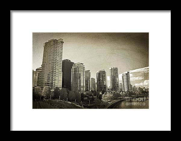 Vancouver British Columbia Framed Print featuring the photograph Vancouver Bc by Tina Wentworth