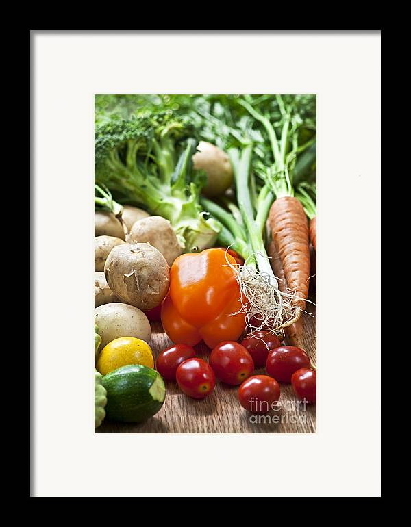 Vegetables Framed Print featuring the photograph Vegetables by Elena Elisseeva