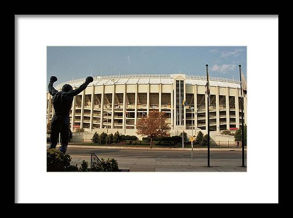 Sports Framed Print featuring the photograph Veterans Stadium by Joseph Perno