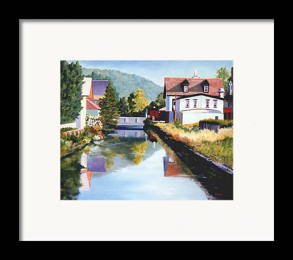 Lambertville Framed Print featuring the painting View Along The Canal by Robert Henne