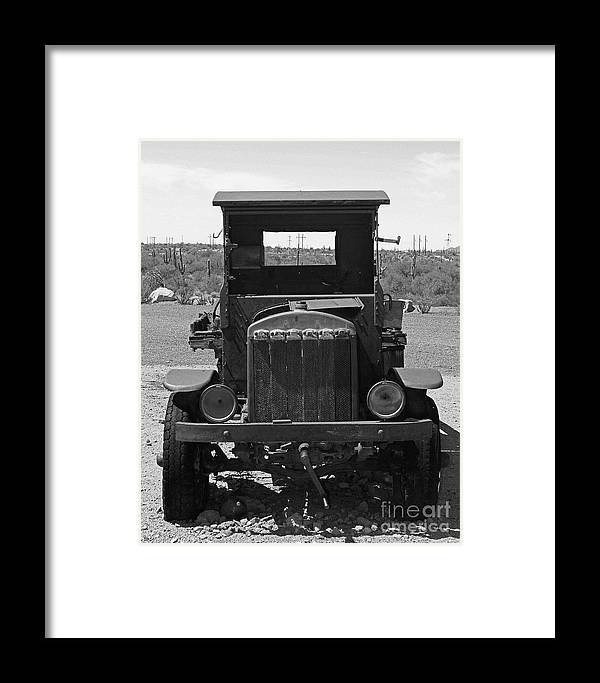 Vintage Car Framed Print featuring the photograph Vintage Stare Down by Kelly Holm