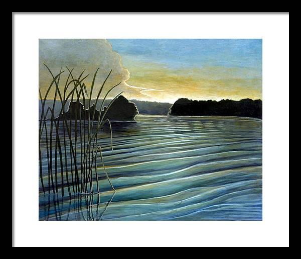 Rick Huotari Framed Print featuring the painting What a beautifull morning by Rick Huotari