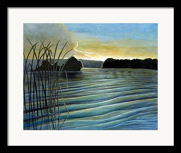 Rick Huotari Framed Print featuring the painting What A Beautifull Morning by Rick Huotari