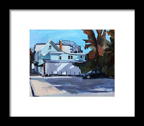 South Boston Framed Print featuring the painting Where's The Dog by Deb Putnam