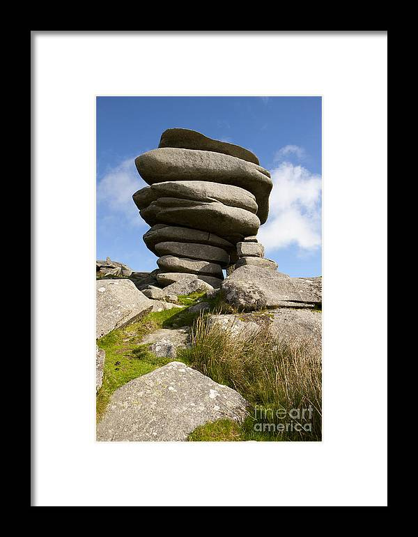 Windswept Framed Print featuring the photograph Windswept Stones by Paul Felix