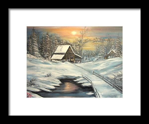 Winter Framed Print featuring the painting Winter by Kenneth LePoidevin