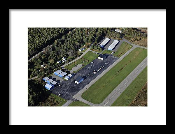 America Framed Print featuring the photograph Wiscasset Airport, Wiscasset by Dave Cleaveland