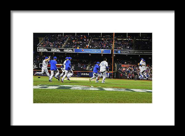 American League Baseball Framed Print featuring the photograph World Series - Kansas City Royals V New by Al Bello