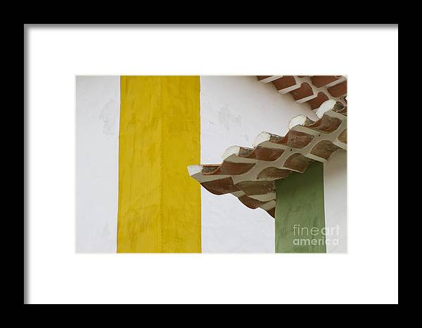 Heiko Framed Print featuring the photograph Yellow And Green Lines To The Roofs by Heiko Koehrer-Wagner