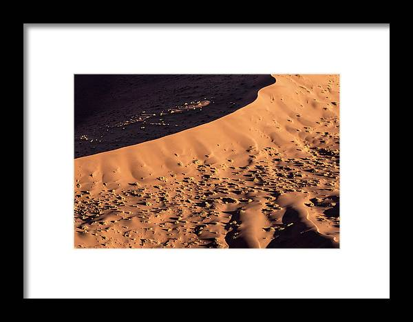 Abstract Framed Print featuring the photograph Africa, Namibia, Namib-naukluft Park by Jaynes Gallery
