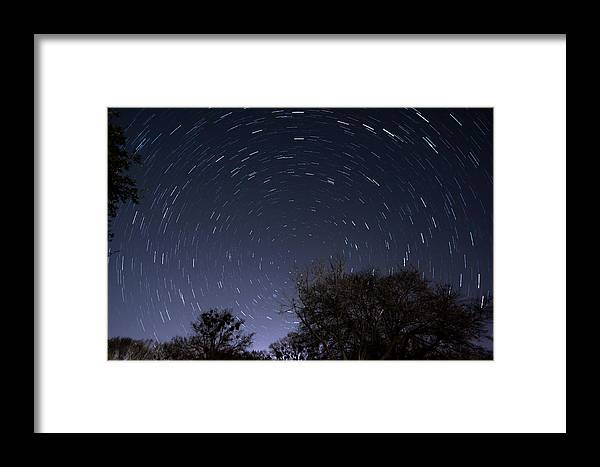 Star Trails Framed Print featuring the photograph 20 Minutes Of Star Movement by Todd Aaron