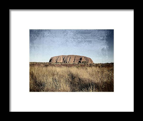 Uluru Framed Print featuring the photograph Uluru by Girish J