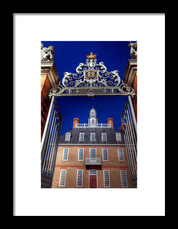 Williamsburg Virginia Usa Framed Print featuring the photograph Williamsburg Virginia Usa by Paul James Bannerman