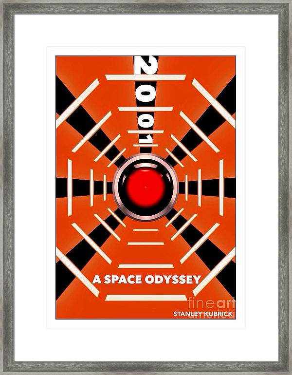 2001 A Space Odyssey Astronaut Mounted /& Framed Print