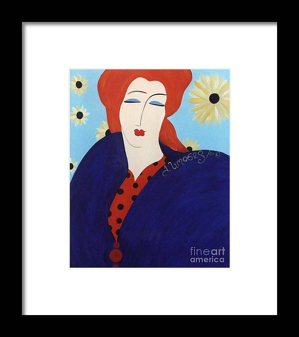 #female Framed Print featuring the painting 2001 Collection by Jacquelinemari