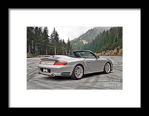 Porsche Framed Print featuring the photograph 2004 Porsche 911 Turbo Cabriolet by David Oberman