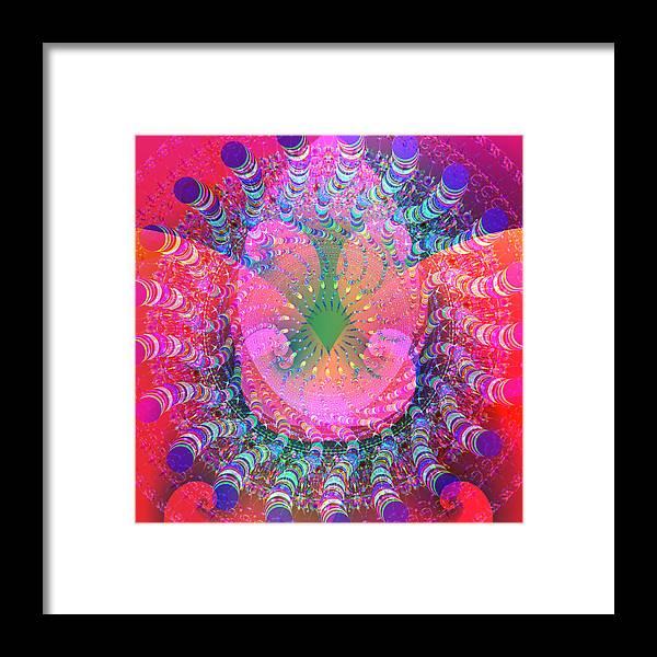 Mandala Framed Print featuring the digital art 2012-02-16-12 by Peter Shor