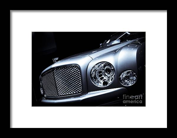 Auto Framed Print featuring the photograph 2012 Bentley Mulsanne by AcmeStudios
