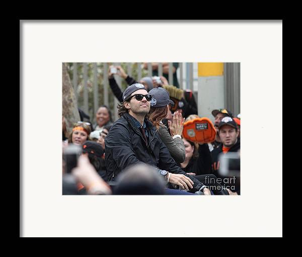 Sport Framed Print featuring the photograph 2012 San Francisco Giants World Series Champions Parade - Barry Zito - Img8206 by Wingsdomain Art and Photography