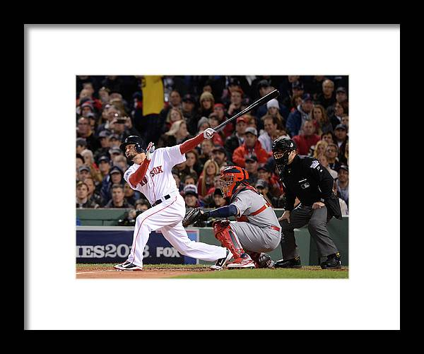 St. Louis Cardinals Framed Print featuring the photograph 2013 World Series Game 2 St. Louis by Ron Vesely