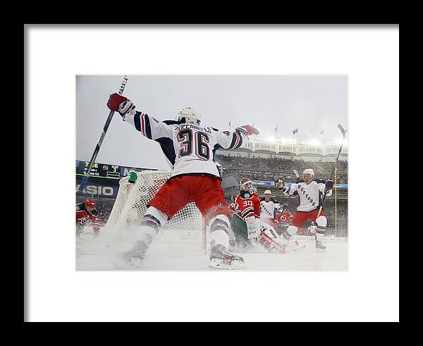 National Hockey League Framed Print featuring the photograph 2014 Coors Light Nhl Stadium Series - by Bruce Bennett
