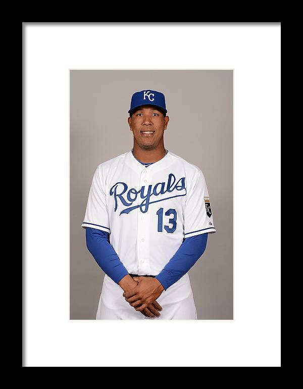 Media Day Framed Print featuring the photograph 2014 Kansas City Royals Photo Day by Robert Binder