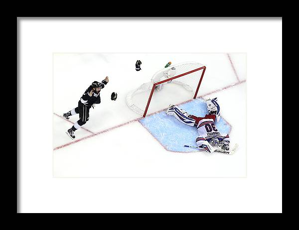 Playoffs Framed Print featuring the photograph 2014 Nhl Stanley Cup Final - Game Five by Bruce Bennett