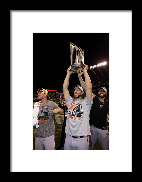 Playoffs Framed Print featuring the photograph 2014 World Series Game 7 San Francisco 2014 by Brad Mangin