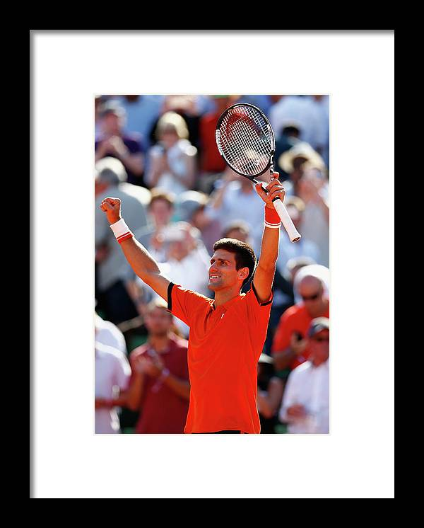 Tennis Framed Print featuring the photograph 2015 French Open - Day Eleven by Julian Finney