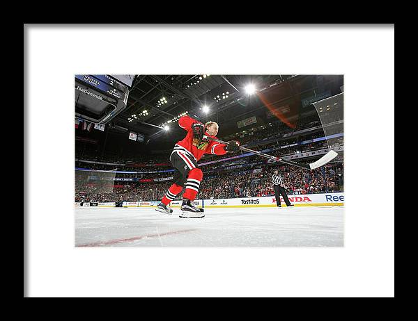 Event Framed Print featuring the photograph 2015 Honda Nhl All-star Skills by Dave Sandford