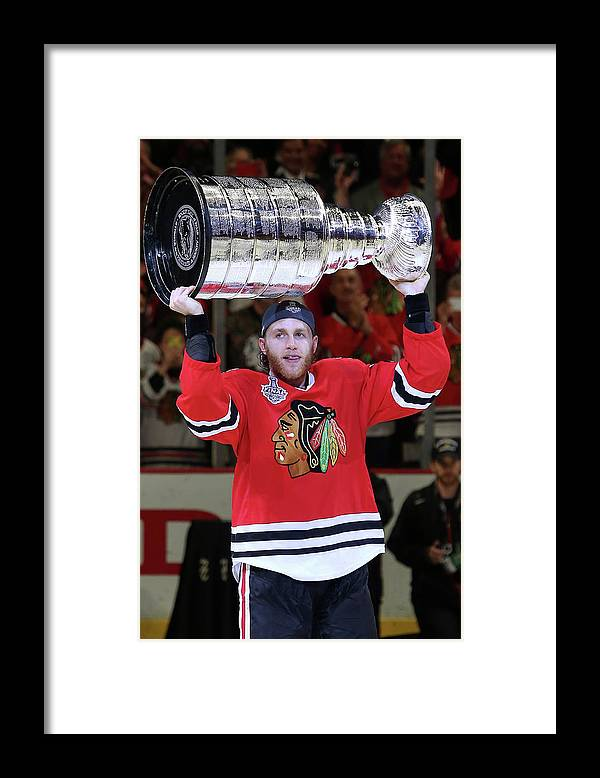 Playoffs Framed Print featuring the photograph 2015 Nhl Stanley Cup Final - Game Six by Tasos Katopodis
