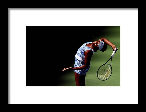 Tennis Framed Print featuring the photograph 2015 U.s. Open - Day 7 by Clive Brunskill