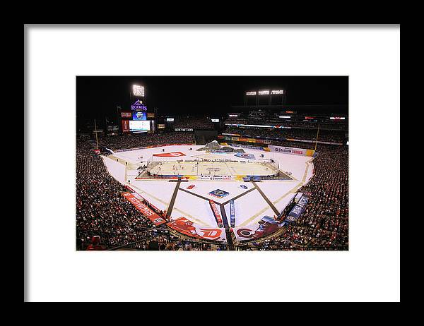 National Hockey League Framed Print featuring the photograph 2016 Coors Light Stadium Series - by Justin Edmonds