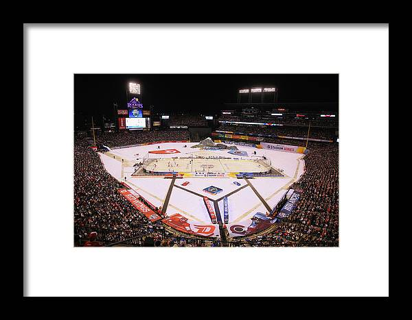 National Hockey League Framed Print featuring the photograph 2016 Coors Light Stadium Series - 2016 by Justin Edmonds