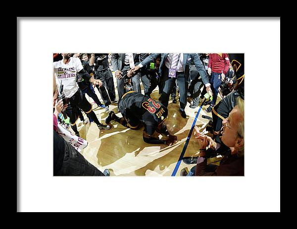 Playoffs Framed Print featuring the photograph 2016 Nba Finals - Game Seven by Andrew D. Bernstein