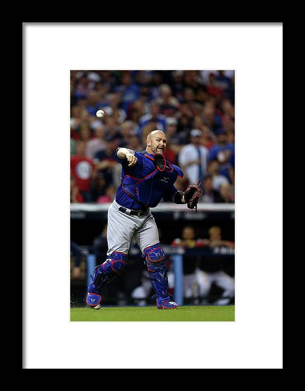 Playoffs Framed Print featuring the photograph 2016 World Series - Chicago Cubs V 2016 by Brad Mangin