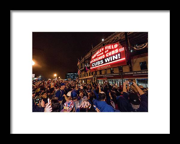 Playoffs Framed Print featuring the photograph 2016 World Series - Chicago Cubs V by Matt Kosterman