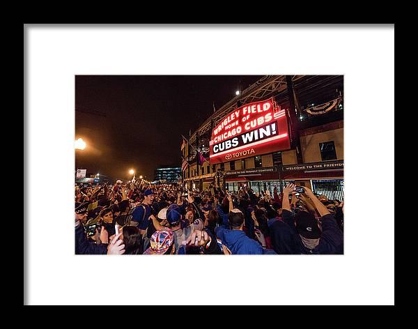Playoffs Framed Print featuring the photograph 2016 World Series - Chicago Cubs V by Matt Kosterman