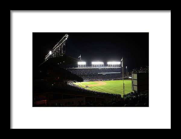 Playoffs Framed Print featuring the photograph 2016 World Series - Cleveland Indians by Rob Tringali