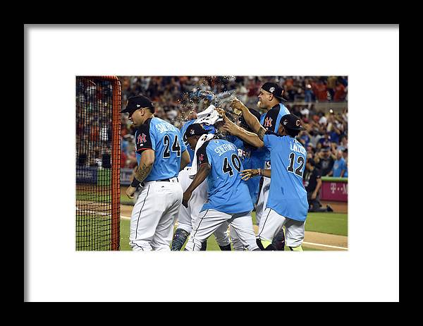 American League Baseball Framed Print featuring the photograph 2017 T-Mobile Home Run Derby by LG Patterson