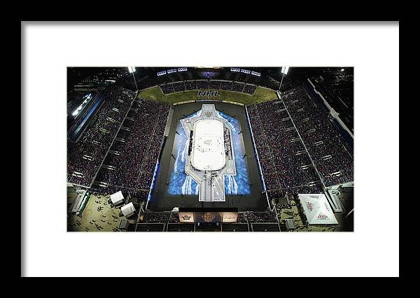 National Hockey League Framed Print featuring the photograph 2018 Coors Light Nhl Stadium Series - by Nicole Abbett