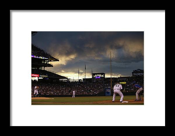 National League Baseball Framed Print featuring the photograph New York Mets V Colorado Rockies 21 by Doug Pensinger