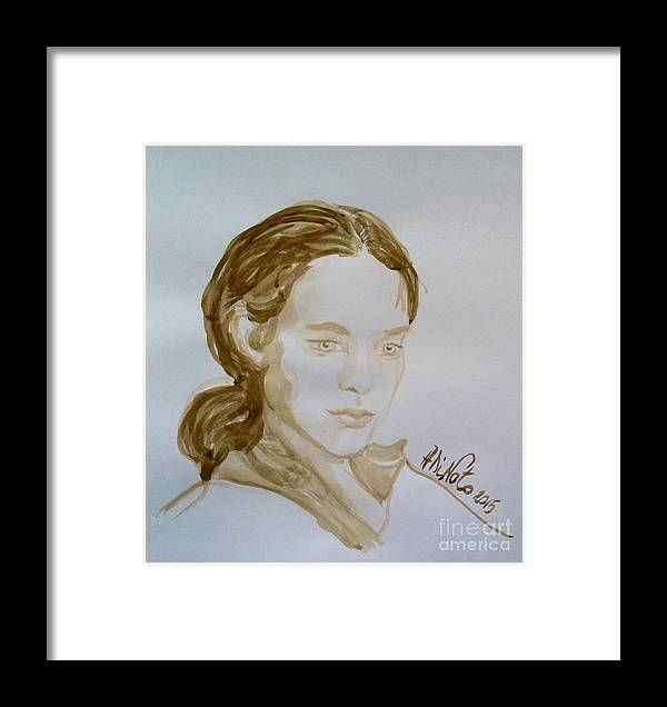 Framed Print featuring the painting Portrait 21 by Alessandra Di Noto