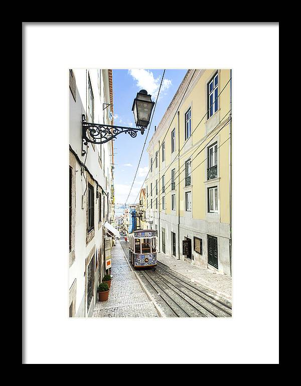 Baixa Framed Print featuring the photograph The Bica Funicular by Andre Goncalves