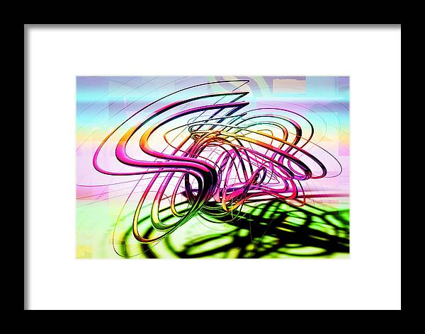 Abstract Framed Print featuring the digital art Abstract by Bogdan Floridana Oana