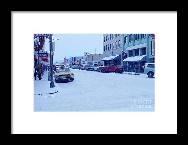 Fairbanks Framed Print featuring the photograph 2nd Street Fairbanks Alaska 1969 by California Views Archives Mr Pat Hathaway Archives