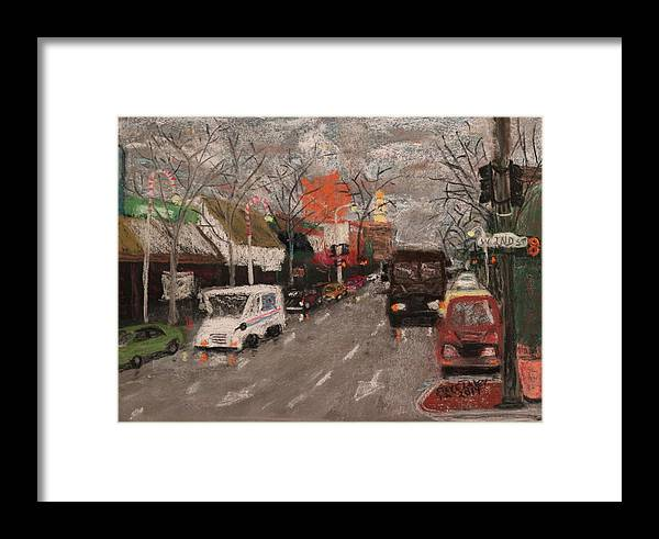 Cityscape Framed Print featuring the painting 2nd Street by Stephen Raley